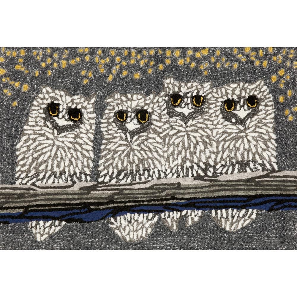 "Liora Manne 1443/47 OWLS NIGHT Hand Tufted Indoor/Outdoor Area Rug in 20""X30"""
