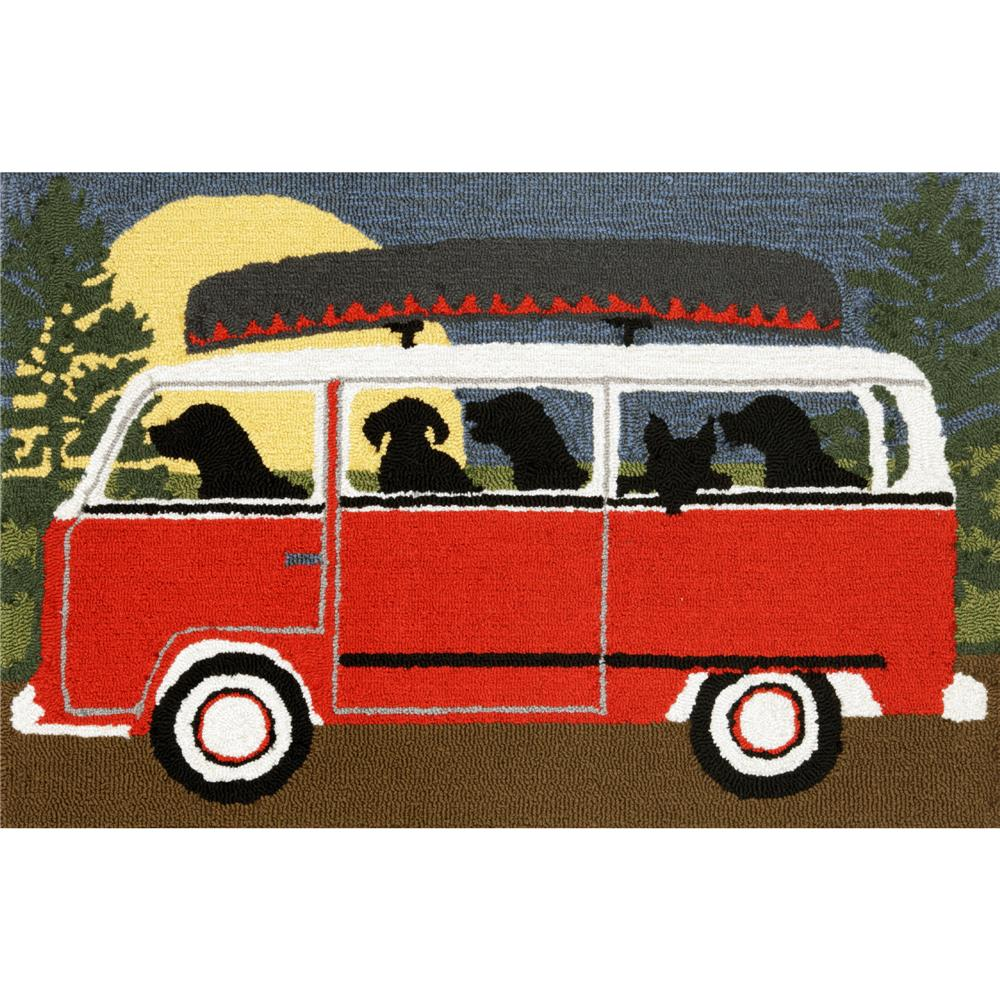 "Liora Manne 1474/24 CAMPING TRIP RED Hand Tufted Indoor/Outdoor Area Rug in 20""X30"""