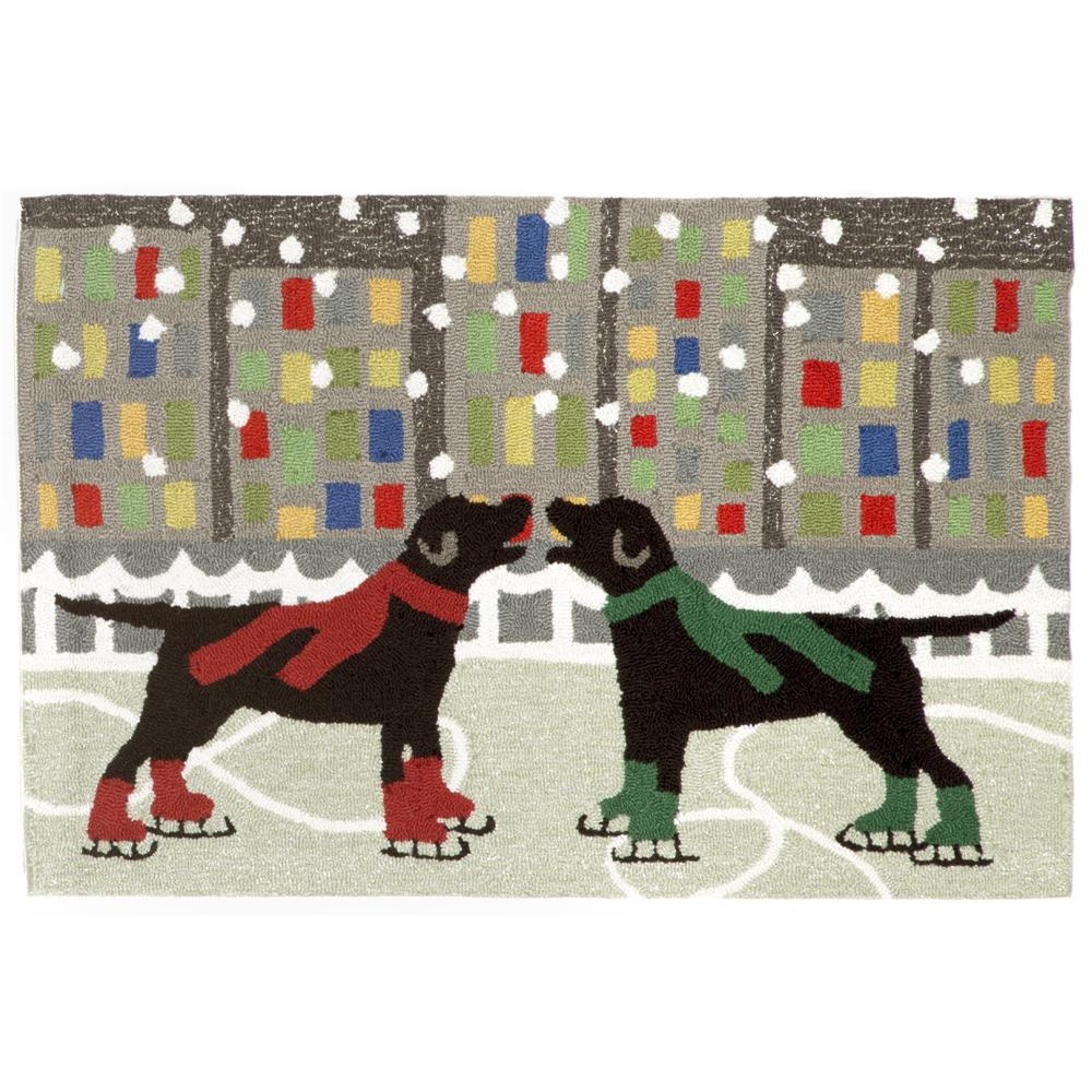 "Liora Manne FTP12152644 Holiday Ice Dogs Multi 20""X30"" Area Rug"