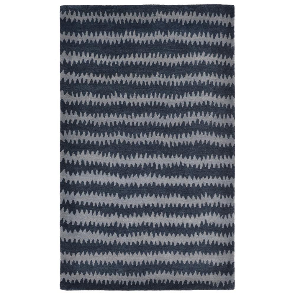 Liora Manne INC92945033 INCA IKAT CHEVRON DENIM Indoor Rug