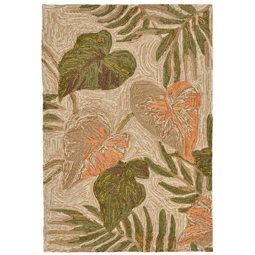 "Liora Manne RVL23206612 2066/12 Tropical Leaf Neutral - 24"" X 36"""