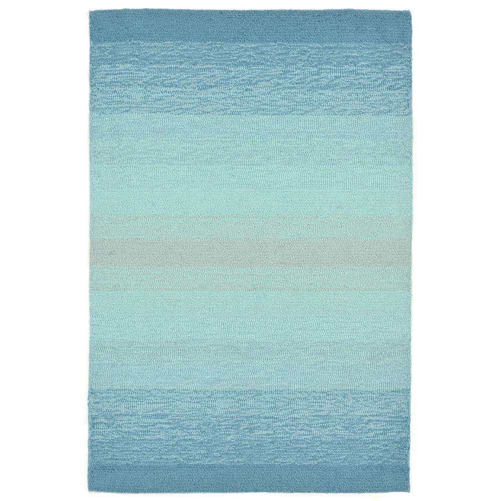 "Liora Manne 2258/04 OMBRE AQUA Hand Tufted Indoor/Outdoor Area Rug in 24""X36"""