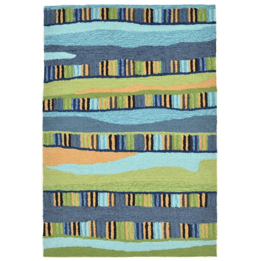 "Liora Manne 2262/06 FIESTA COOL Hand Tufted Indoor/Outdoor Area Rug in 24""X36"""