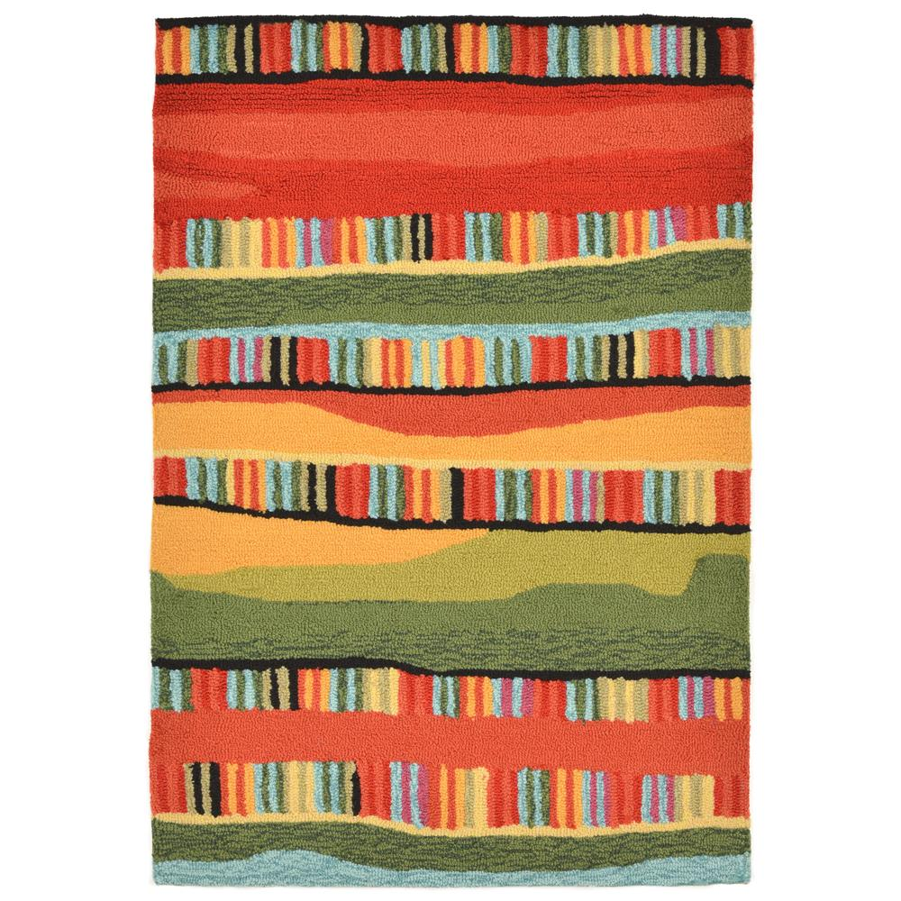 "Liora Manne 2262/24 FIESTA WARM Hand Tufted Indoor/Outdoor Area Rug in 24""X36"""