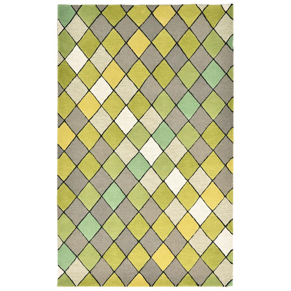 Liora Manne SEVR8968006 SEVILLE DIAMOND GREEN Indoor Rug