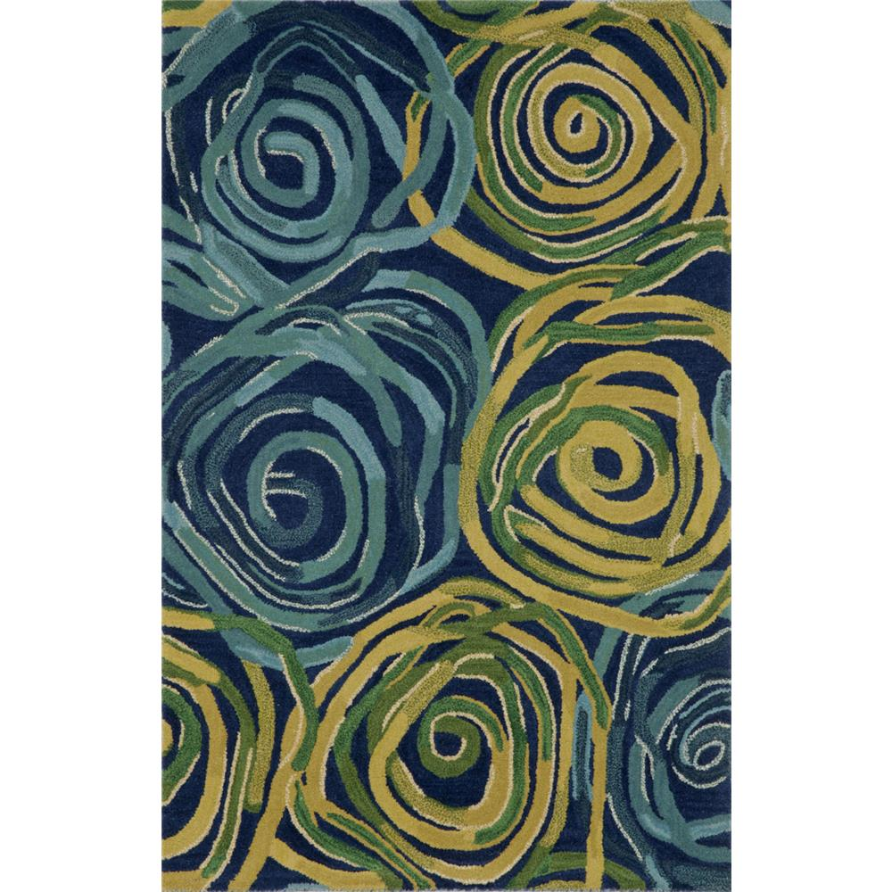"Liora Manne 8106/33 RAMBLING ROSE NAVY Hand Tufted Indoor Area Rug in 42""X66"""