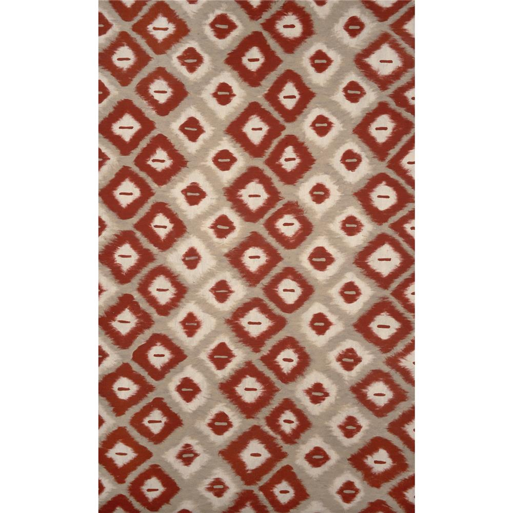Liora Manne VCF58309524 3095/24 Ikat Diamonds Red - 5