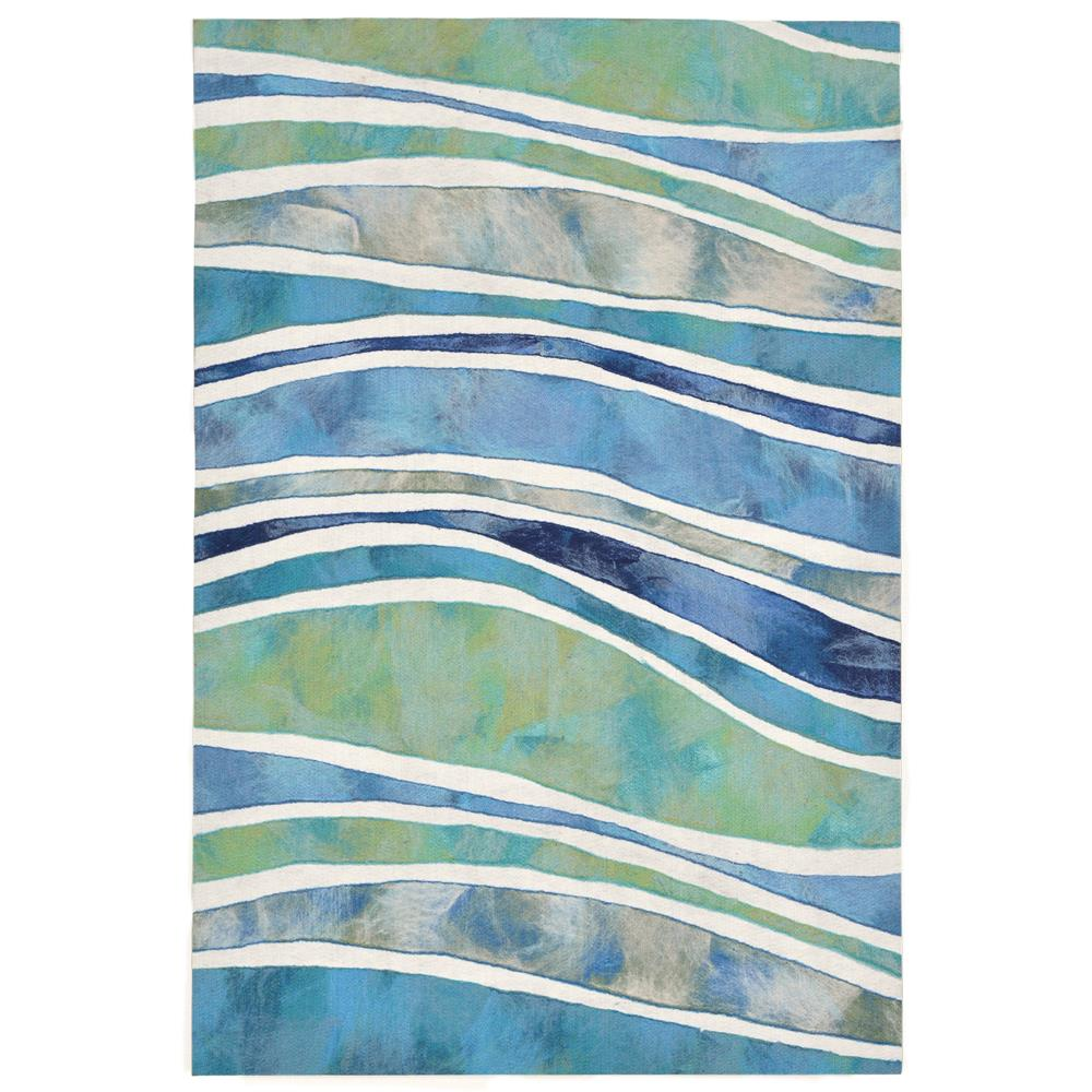 "Liora Manne 3126/04 WAVE OCEAN Hand Crafted Indoor/Outdoor Area Rug in 24""X36"""