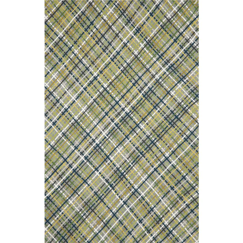 "Liora Manne VCFR8326847 3268/47 Mad Plaid Heather - 27"" X 8"
