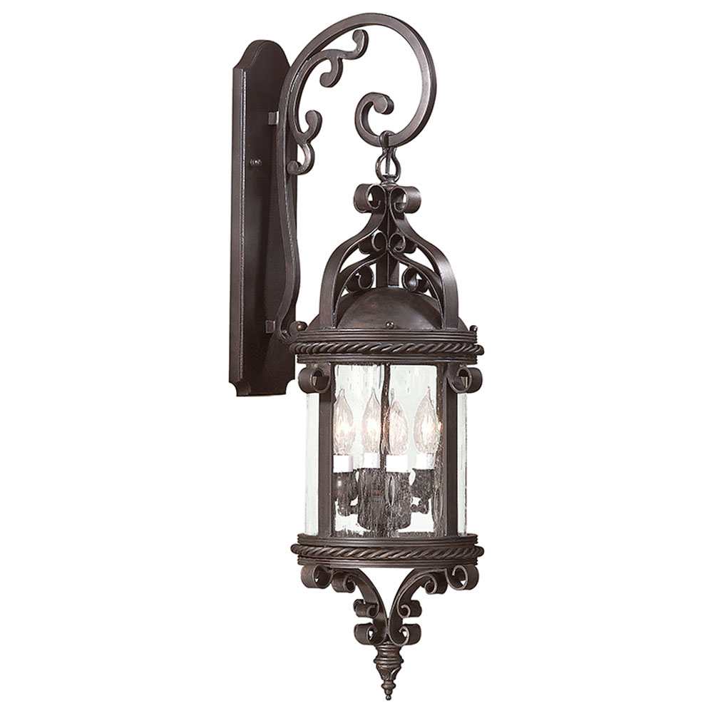Troy Lighting BCD9122OBZ Pamplona 4 Light Large Wall Lantern in Old Bronze