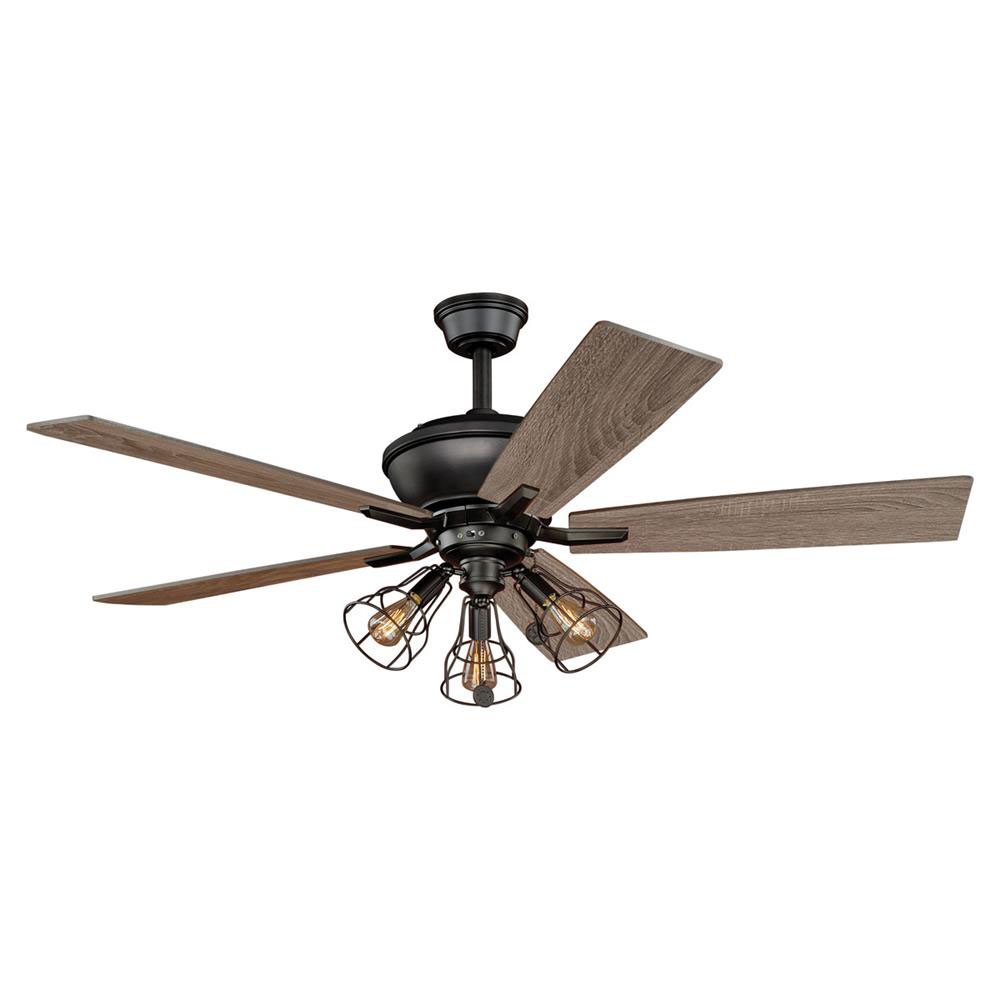 "Vaxcel Lighting F0042 Clybourn 52"" Ceiling Fan Bronze"