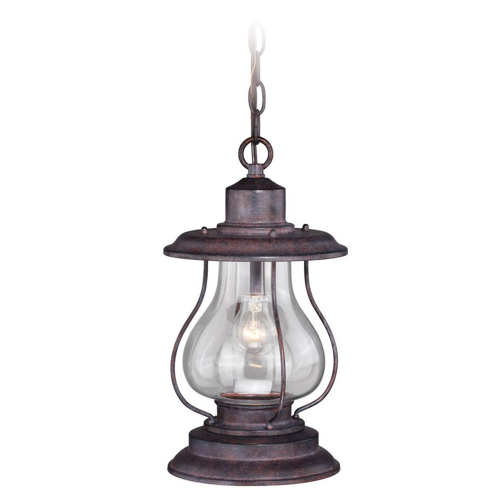 "Vaxcel Lighting T0219 Dockside 8"" Outdoor Pendant Weathered Patina"
