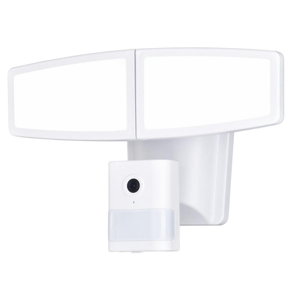 Vaxcel Lighting T0352 Epsilon II Dualux® LED Motion Sensor Wi-Fi Camera Security Light White