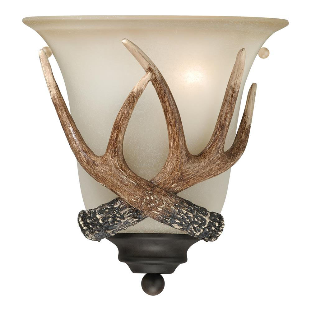 Vaxcel Lighting W0148 Yoho 1L Wall Sconce Black Walnut