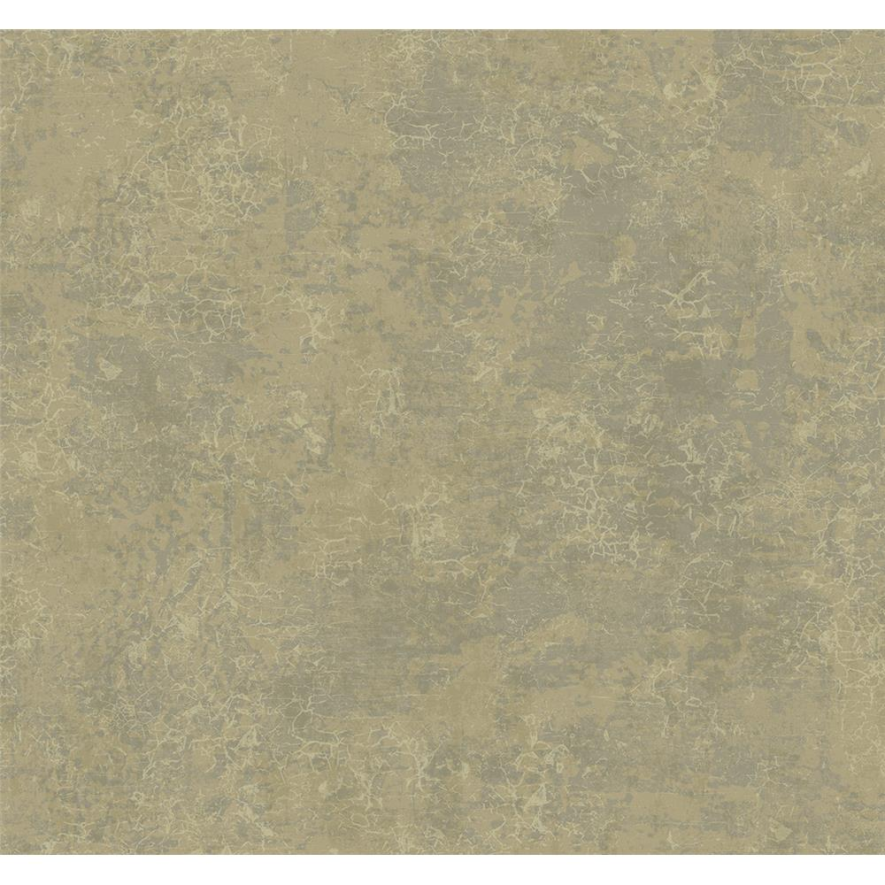 Wallquest DD11806 Patina Crackle Faux Finish Wallpaper in Green