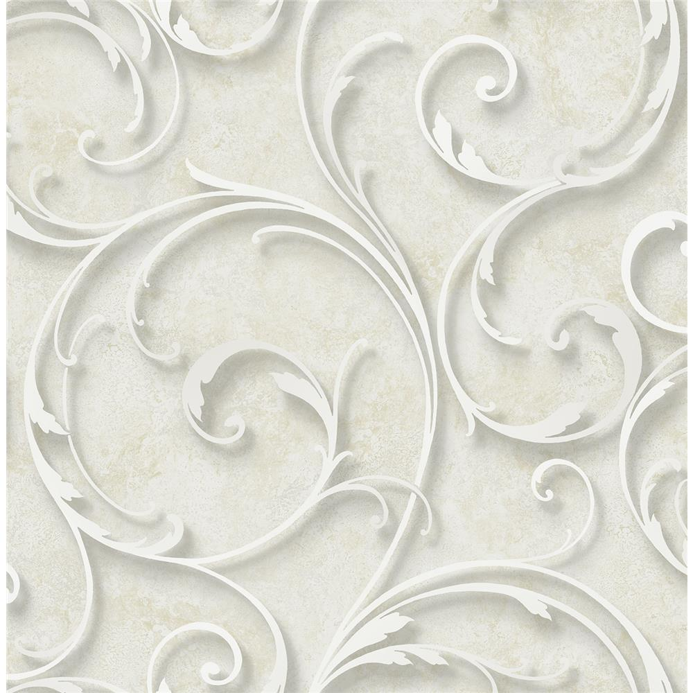 Wallquest DS60808 3D Classical Scroll Wallpaper