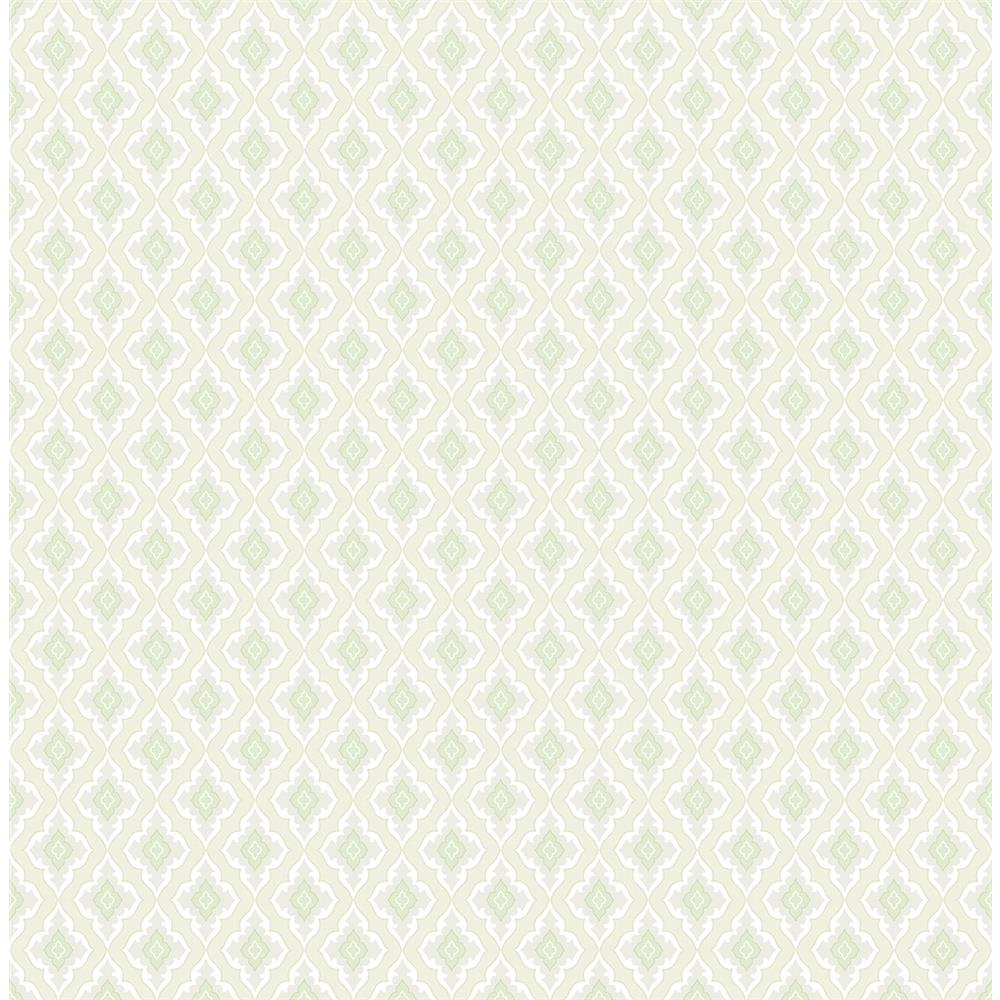 Wallquest FL91804 French Cameo Grahm Traditional Wallpaper in Green