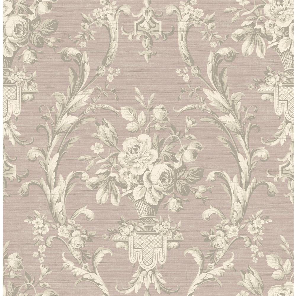 Wallquest TX41309 Cambridge Bastrip Traditional Wallpaper in Pink