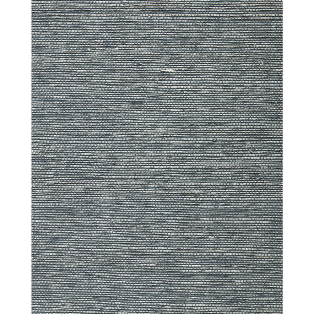 Washington Wallcoverings BA 472 French Blue Sisal Grasscloth.