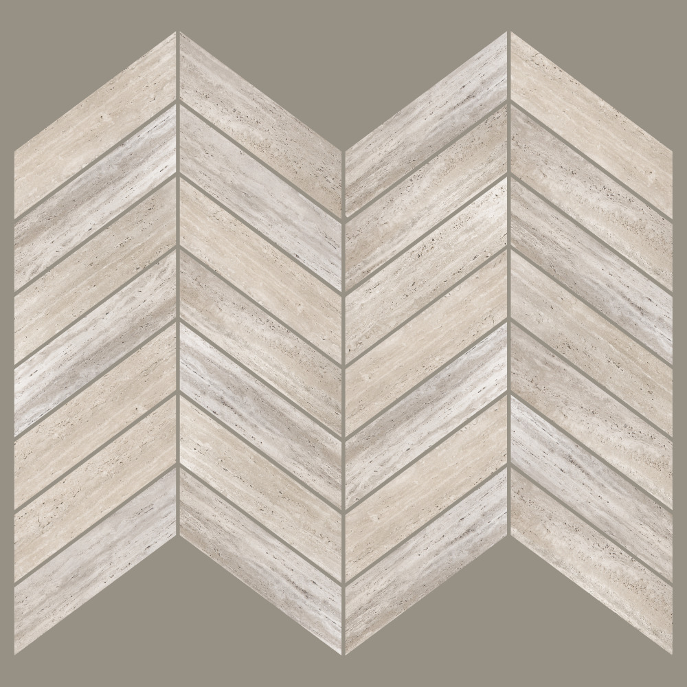 Roommates by York AVE10162 Linden Ave Chevron Distressed Wood Sticktiles - 4 Pack