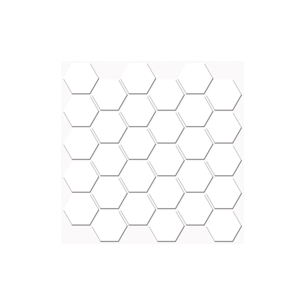 Roommates by York AVE10166 Linden Ave White Hexagon Sticktiles - 4 Pack