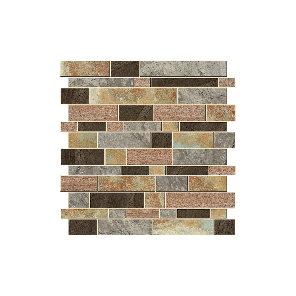 Roommates by York AVE10170 Linden Ave Modern Long Stone Sticktiles - 4 Pack