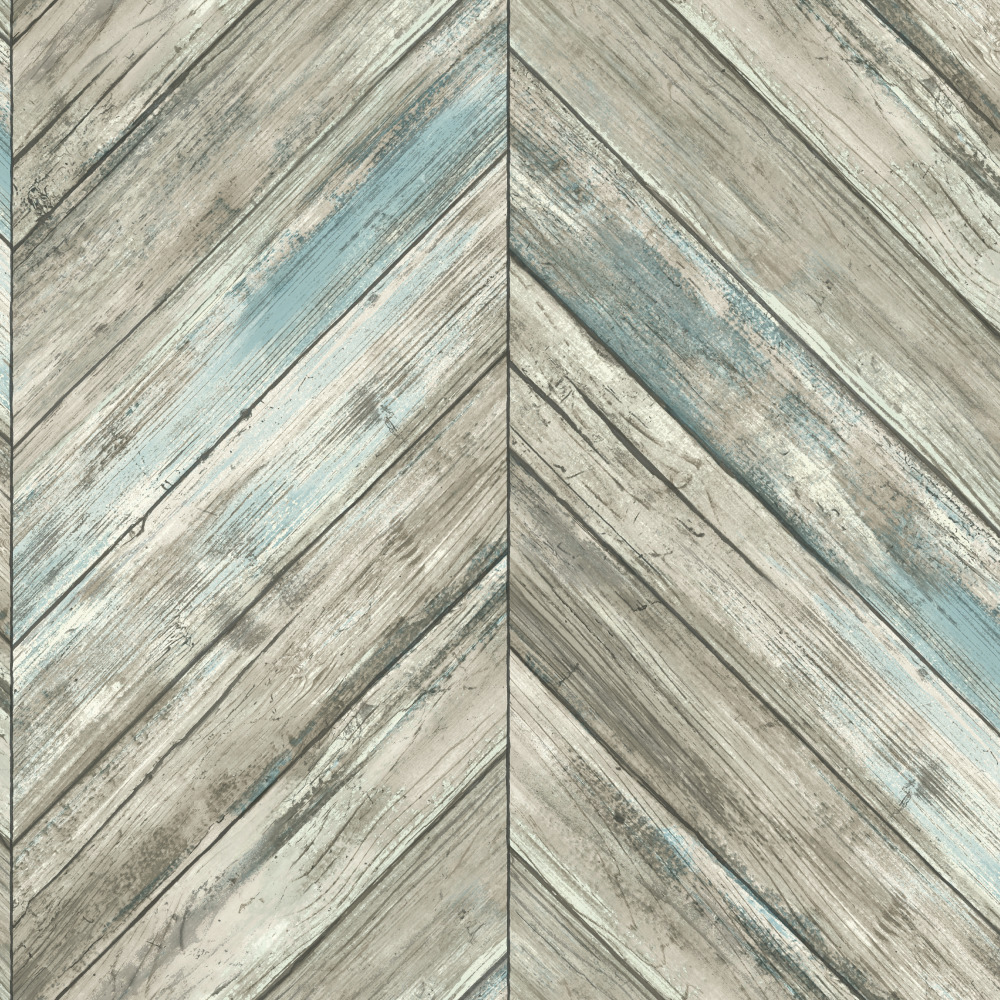 Carey Lind by York CM3337 Herringbone Wood Boards Wallpaper - Gray