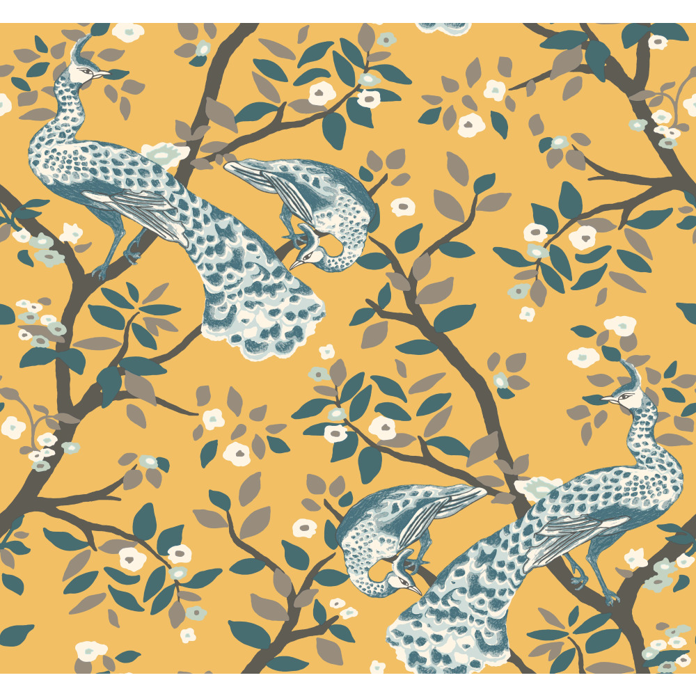 York DR6320 Dwell Studio Plume Wallpaper - Yellows