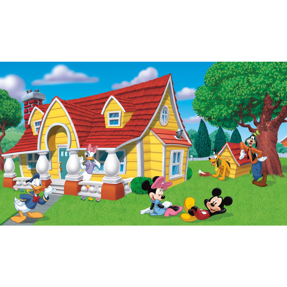 RoomMates by York JL1222M Mickey & Friends Chair Rail Prepasted Mural 6
