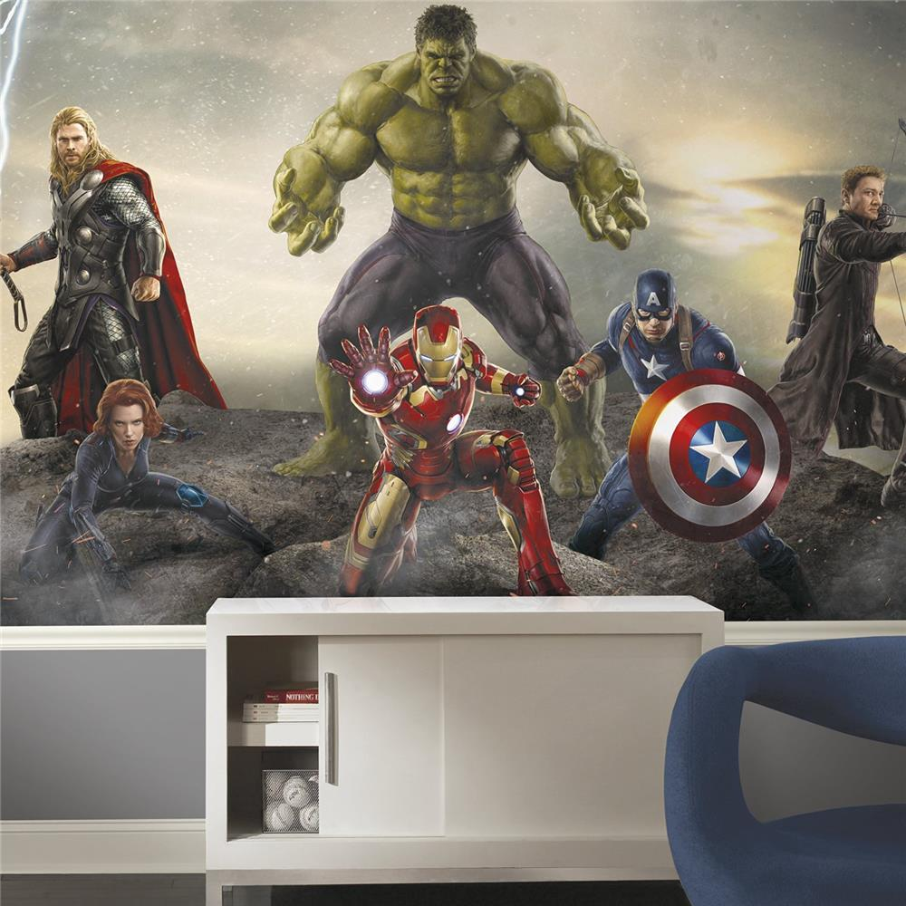 RoomMates by York  JL1364M Avengers Age of Ultron Ground Attack XL Chair Rail Prepasted Mural 6