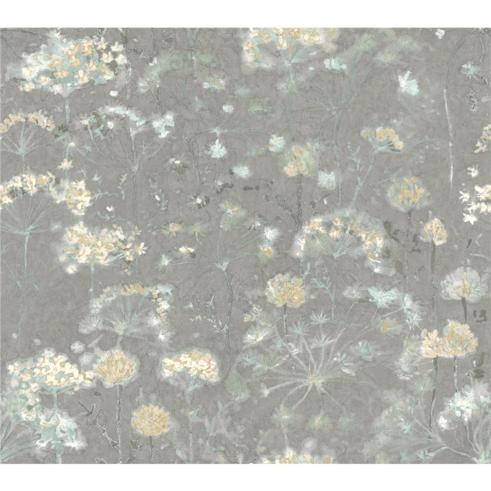 Candice Olson by York NA0541 Botanical Fantasy Wallpaper in Grey