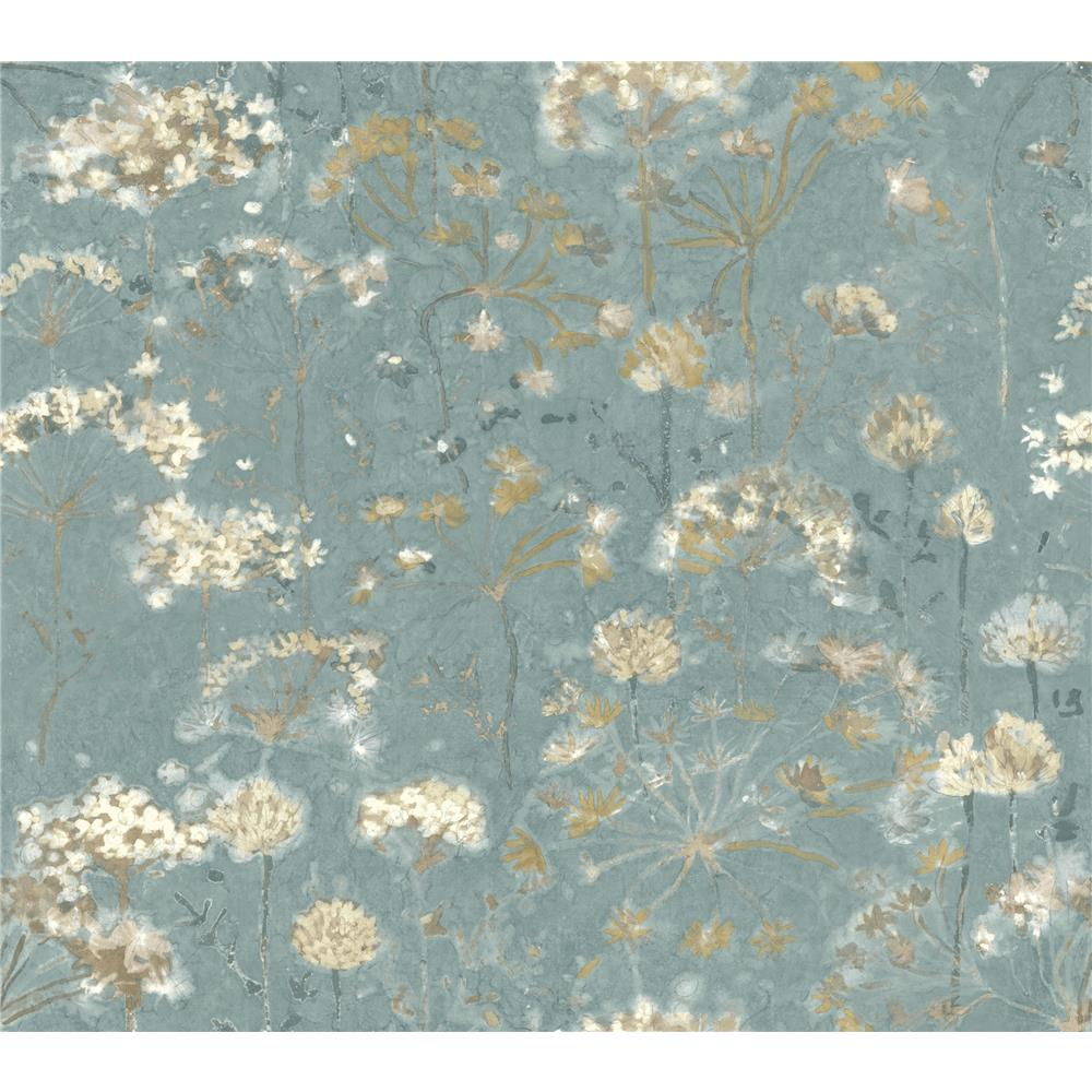 Candice Olson by York NA0542 Botanical Fantasy Wallpaper in Blue