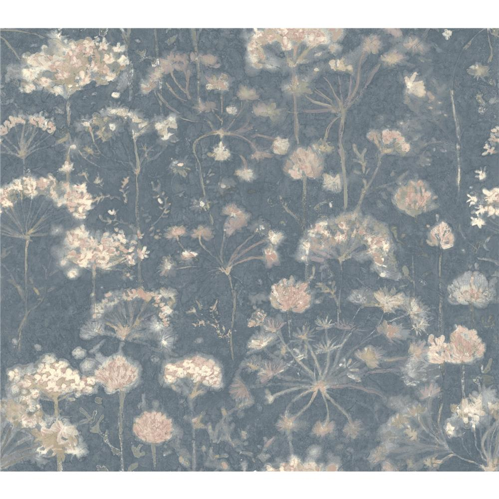 Candice Olson by York NA0543 Botanical Fantasy Wallpaper in Dark Blue