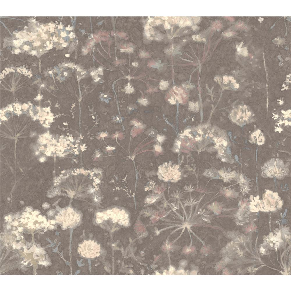 Candice Olson by York NA0544 Botanical Fantasy Wallpaper in Dark Grey