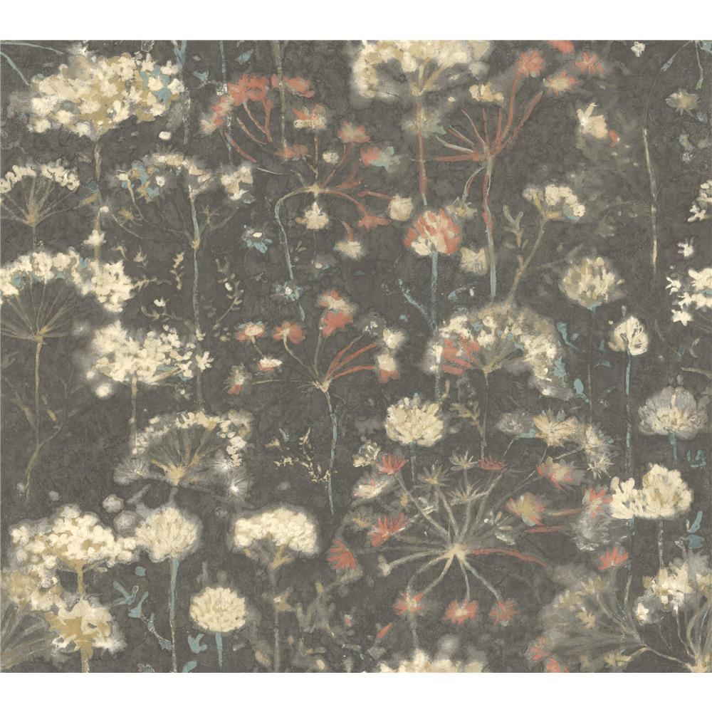 Candice Olson by York NA0545 Botanical Fantasy Wallpaper in Black