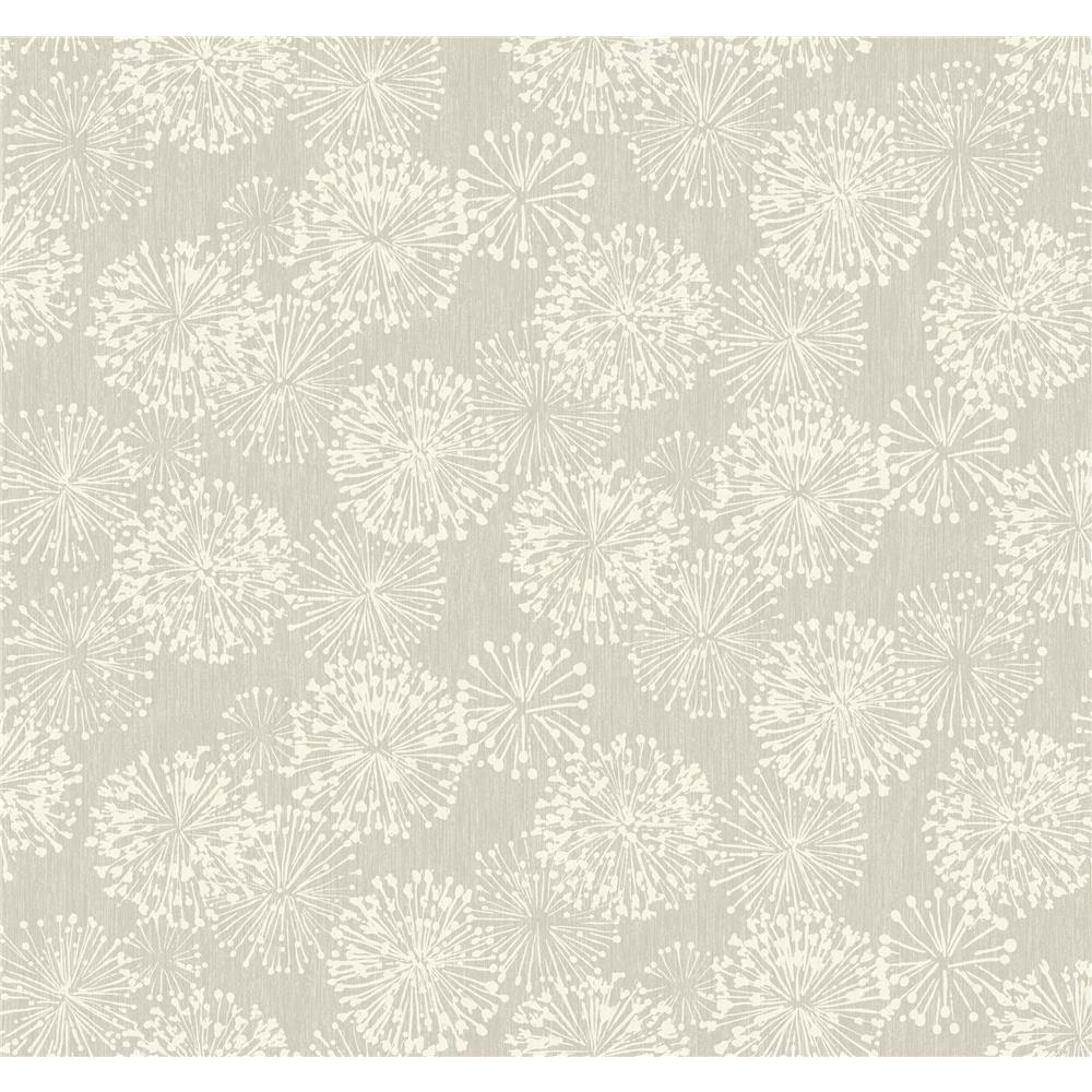 Candice Olson by York NA0580 Grandeur Wallpaper in Silver