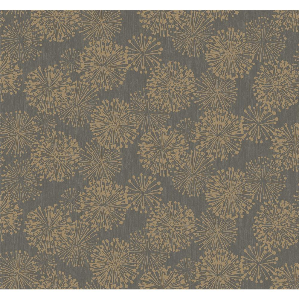 Candice Olson by York NA0582 Grandeur Wallpaper in Gold