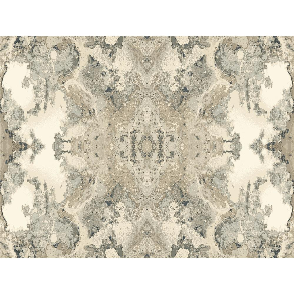 Candice Olson by York NA0593 Inner Beauty Wallpaper in Grey