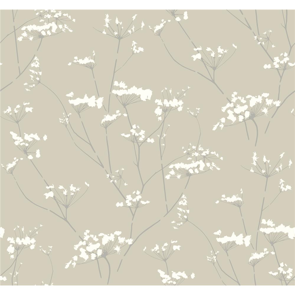 Candice Olson by York NA0599 Enchanted Wallpaper in Tan