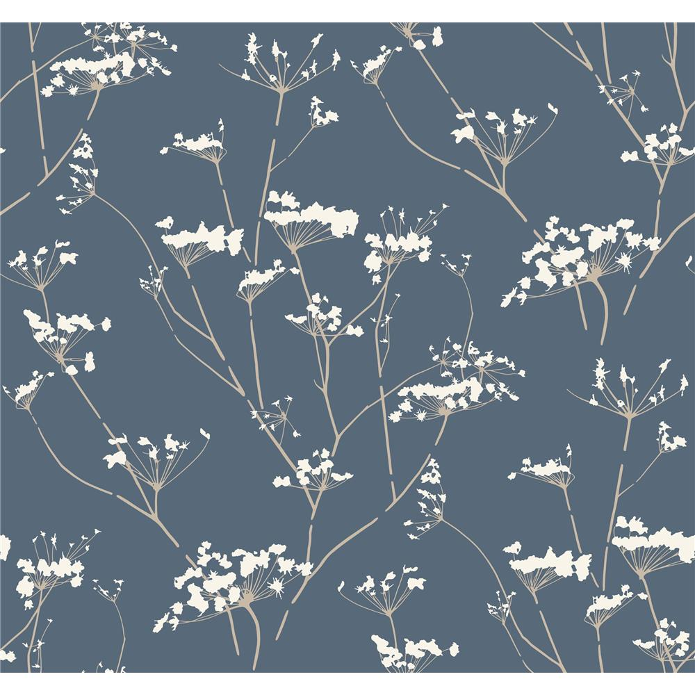 Candice Olson by York NA0600 Enchanted Wallpaper in Blue