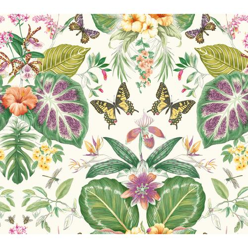 York Wallcoverings ON1600 Outdoors In Tropical Butterflies Wallpaper