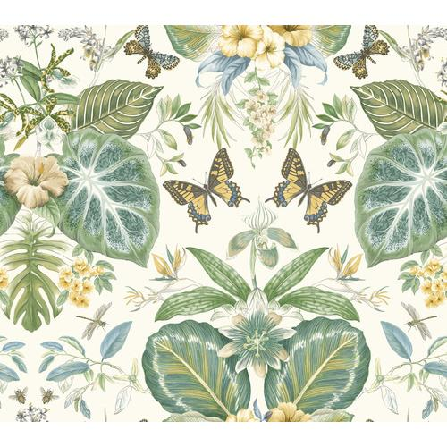 York Wallcoverings ON1601 Outdoors In Tropical Butterflies Wallpaper