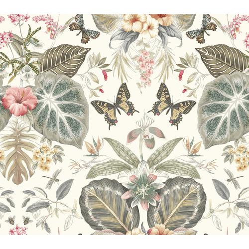 York Wallcoverings ON1602 Outdoors In Tropical Butterflies Wallpaper