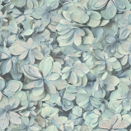 York Wallcoverings ON1616 Outdoors In Hydrangea Bloom Wallpaper
