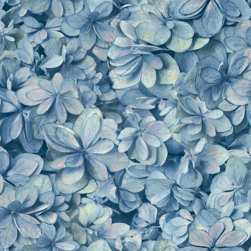 York Wallcoverings ON1618 Outdoors In Hydrangea Bloom Wallpaper