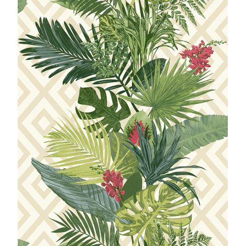 York Wallcoverings ON1627 Outdoors In Tropical Oasis Stripe Wallpaper