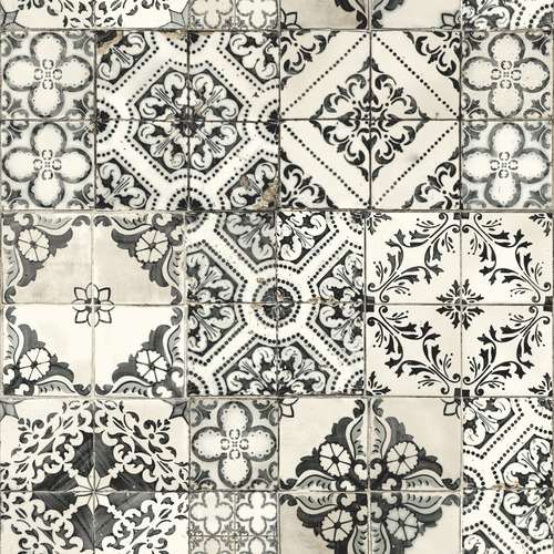 York Wallcoverings ON1632 Outdoors In Mediterranean Tile Wallpaper