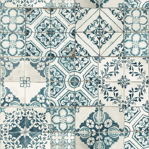 York Wallcoverings ON1633 Outdoors In Mediterranean Tile Wallpaper