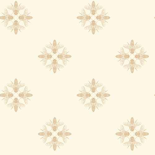 York Wallcoverings ON1641 Outdoors In Honey Bee Wallpaper