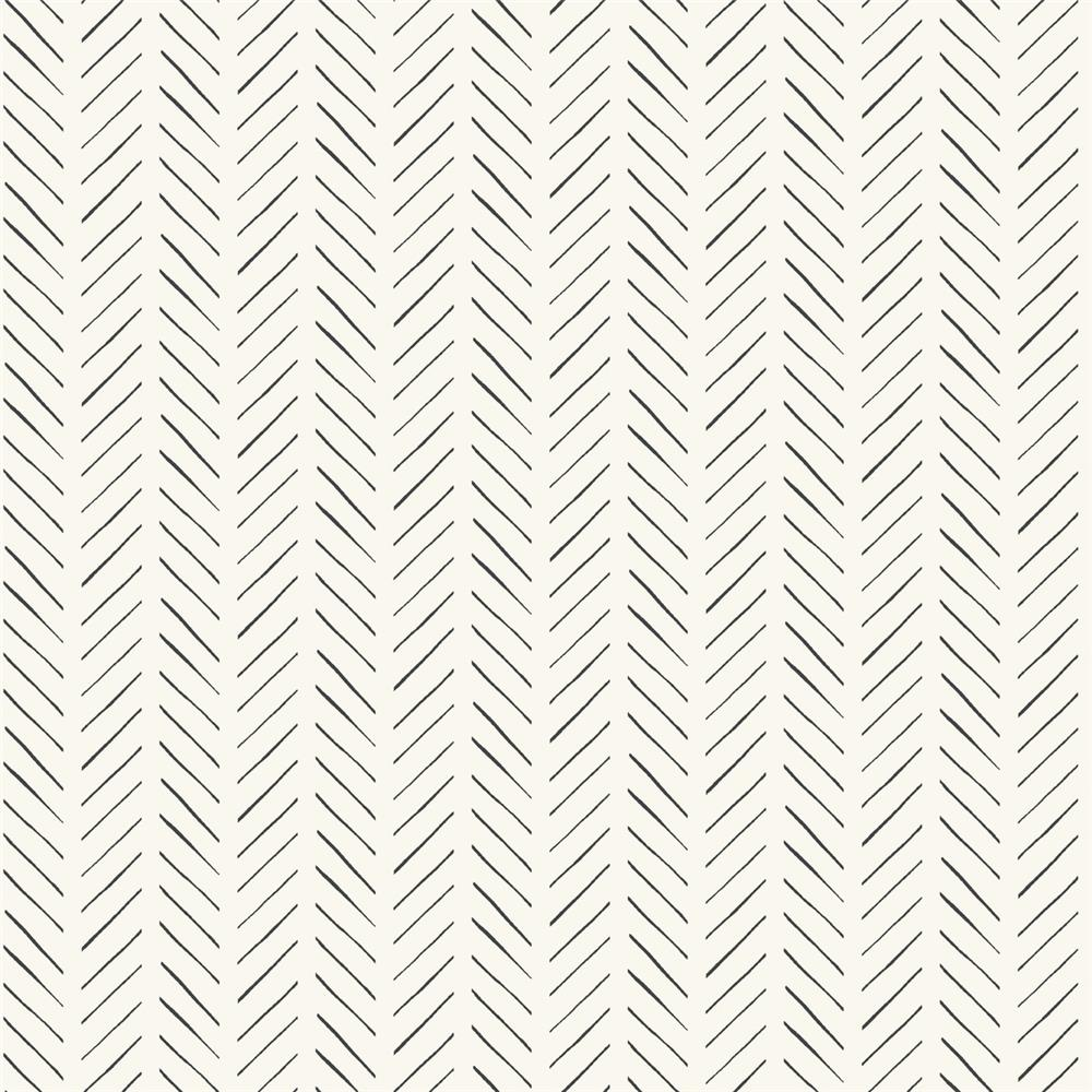 York PSW1020RL Magnolia Home Peel & Stick  Magnolia Home Pick-Up Sticks Peel and Stick Wallpaper in Black